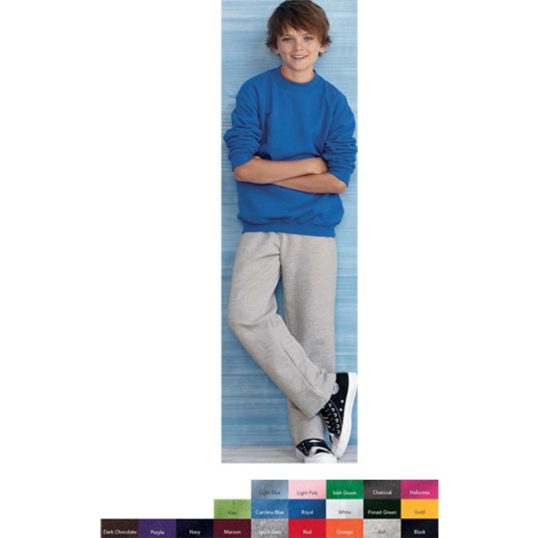 Gildan (r) - Colors - S- X L - Youth 8.0 Oz., 50% Cotton/50% Polyester Crewneck Sweatshirt. Blank Product Photo