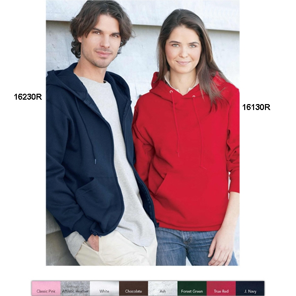 Fruit Of The Loom (r) Best (tm) - Heathers S- X L - Adult, 8.0 Oz. 50% Cotton/50% Polyester Full Zip Hooded Sweatshirt. Blank Product Photo
