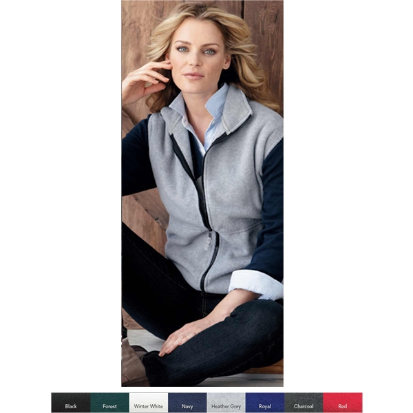 Sierra Pacific (r) - 3 X L - 8.5 Oz. 100% Polyester, Full Zip Fleece Vest. Blank Product Photo