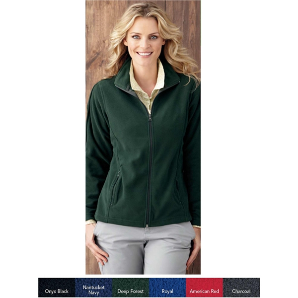 Sierra Pacific (r) - S- X L - Ladies' Moisture Resistant Microfleece Jacket. Blank Product Photo