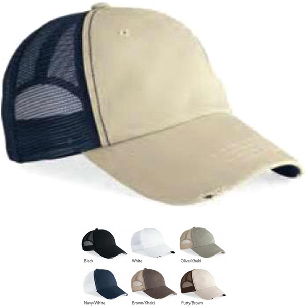 Mega Cap (tm) - Organic Cotton Frayed Cap. Blank Product Photo