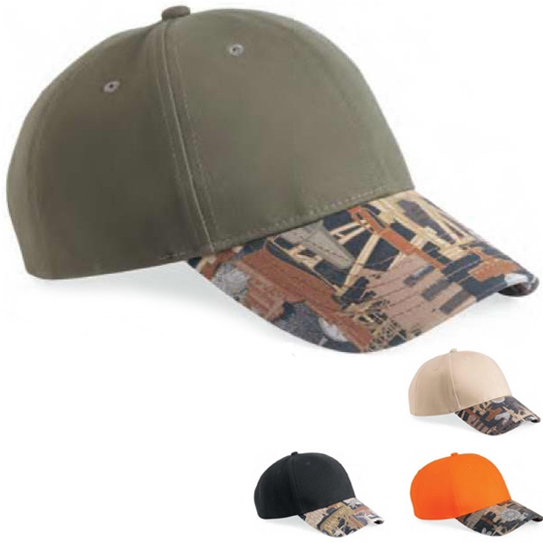Kati - Oilfield Camo Cap Made Of 100% Cotton Twill. Blank Product Photo