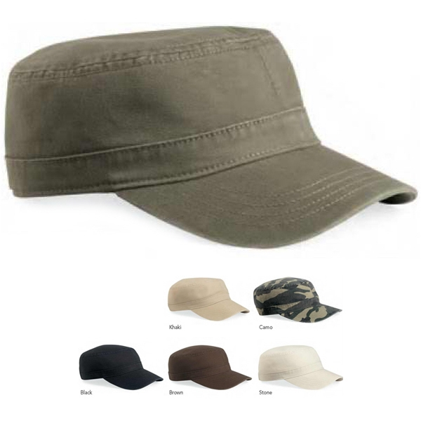 Valucap (tm) - Unstructured Military-style Cap Enlists Bio-washed Softness. Blank Product Photo