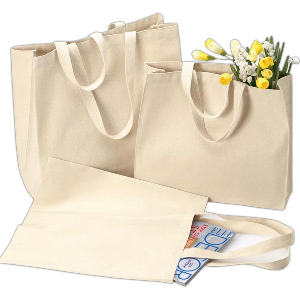 "Liberty Bags (r) - Cotton Canvas Tote With 22"" Handles. Blank Product Photo"