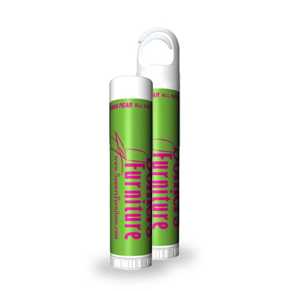 Asian Pear Flavored Lip Balm Stick With Custom Label Photo