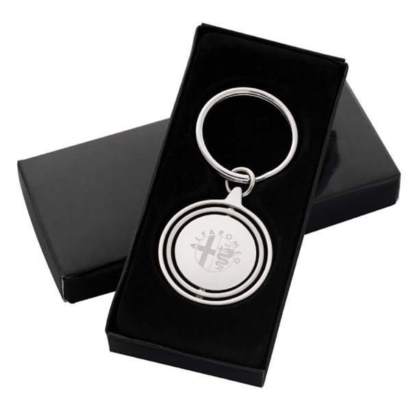 "Spinning Key Tag, 2 3/4"" X 1 1/4"" Photo"