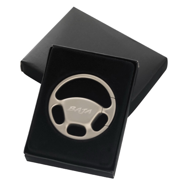"Steering Wheel Key Tag, 1 3/4"" Dia Photo"