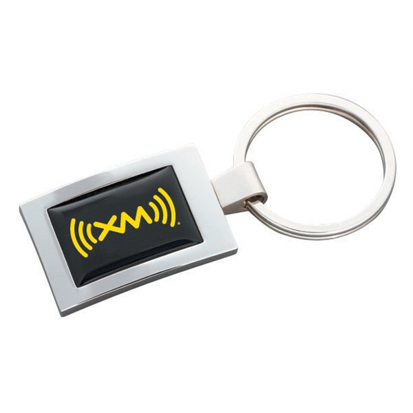 N-dome (tm) - High Polished Rectangular Key Tag With Full Color N-dome Photo
