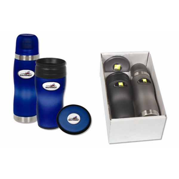 Soft Touch N-dome (tm) - Thermos Boxed Set With Matching Orbit Coaster, 16 Oz Photo