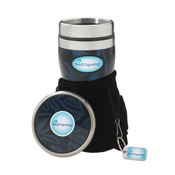 Reflection N-dome (tm) - Gift Set With Tumbler And Coaster, Hang Tag And A Velvet Pouch Photo