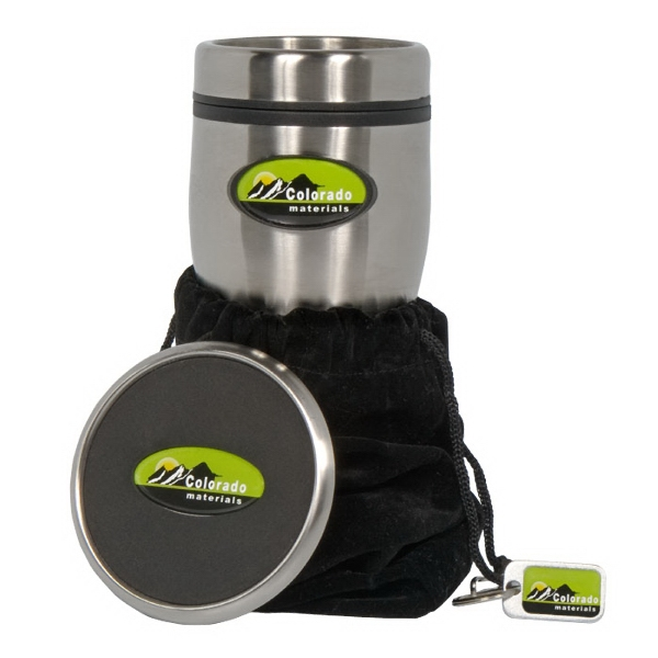 N-dome (tm) - Gift Set With Stainless Steel 16 Oz. Tumbler And Coaster, Hang Tag And Velvet Pouch Photo