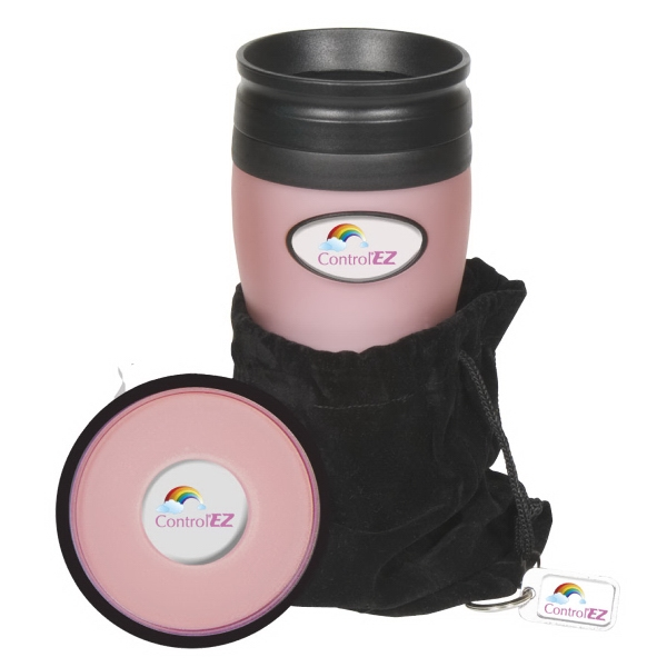 Soft Touch N-dome (tm) - Tumbler Gift Set. Includes Tumbler, Orbit Coaster And Hang Tag With Velvet Pouch Photo
