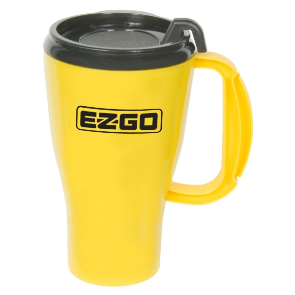 Omega - 16 Oz Mug With Snap-on Spill-resistant Thumb-slide Lid. Made In The U.s.a Photo
