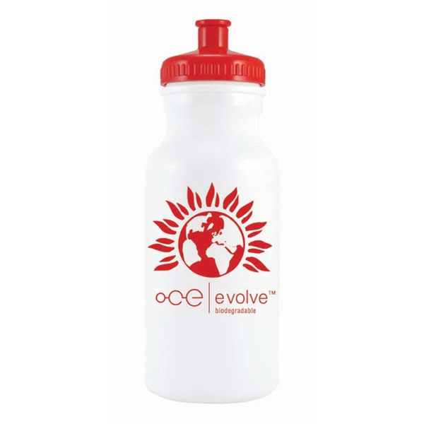 Water Bottle With 20 Oz Capacity And Pull Top Lid. Made In The U.s.a Photo