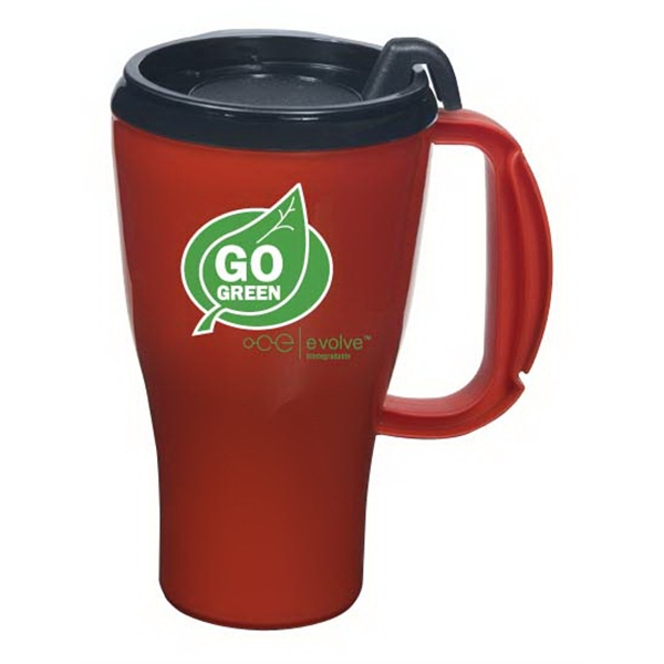 Evolve (tm) Omega - Biodegradable 16 Oz. Mug With Snap-on Spill-resistant Lid. Made In The U.s.a Photo