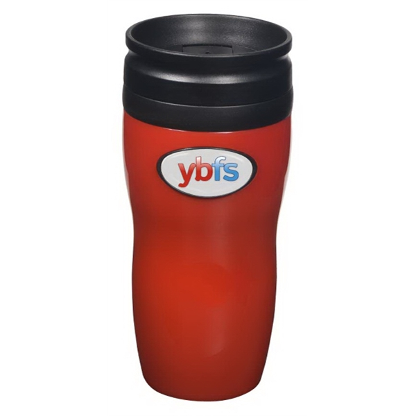 "Evolve (tm) N-dome (tm) - Tumbler Features Double-walled Construction And Spill-resistant Lid. 3"" X 7"" Photo"
