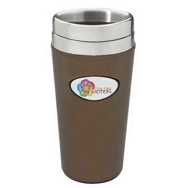 Wrapsody N-dome (tm) - 16oz Double Walled Tumbler, Stainless Inner With Leatherette Wrap Photo