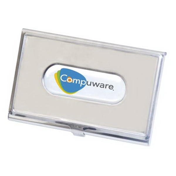 "N-dome (tm) - Business Card Holder With Sleek And Stylish. 3 5/8"" X 2 3/8"" Photo"
