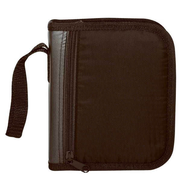 Two-tone Nylon 24-cd Holder With Zipper Closure And Handle Photo