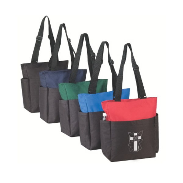 "Silkscreen - Zipper Tote Bag With 32"" Adjustable Shoulder Straps Photo"