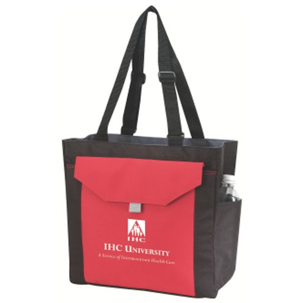 "Embroidery - Shoulder Tote Bag With Side Pockets With 30"" Adjustable Shoulder Straps Photo"