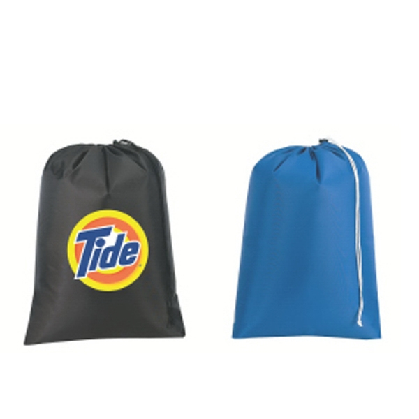 Embroidery - Laundry Tote Bag Made Of 420-denier Nylon With A Drawstring Closure Photo