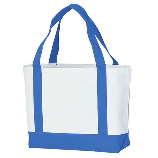 "Embroidery - Two-tone Tote Bag Made Of 13.5 Oz. Canvas With 22"" Self-fabric Handles Photo"