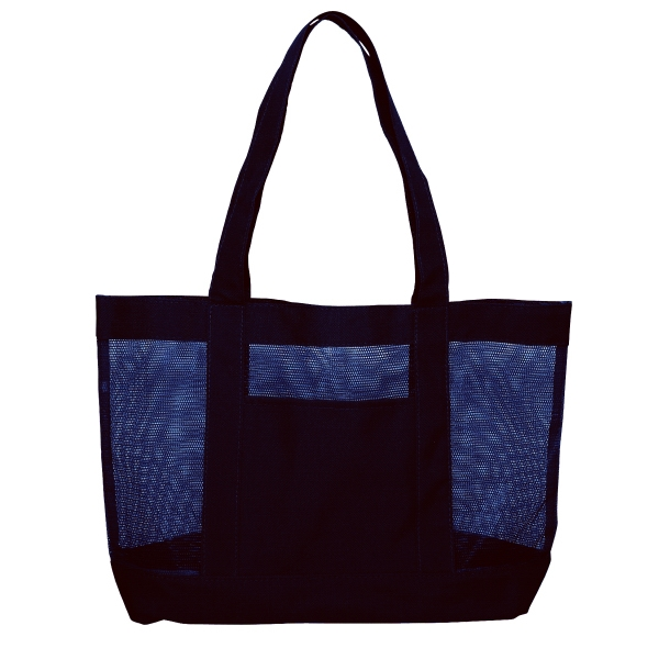 Silkscreen - Solid Color Tote Bag Made Of Nylon Mesh And Polyester For The Pocket Photo