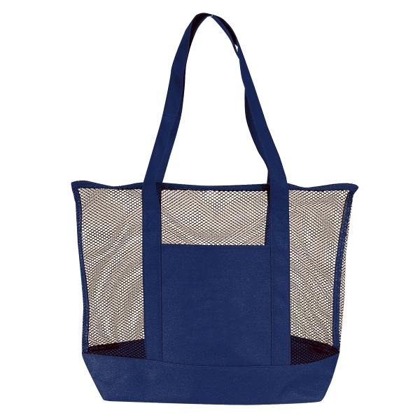 "Silkscreen - Large Mesh Tote Bag With 22"" Polyester Carrying Handles Photo"