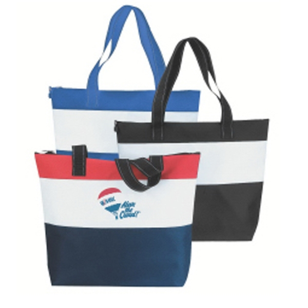 Embroidery - Multi Color Tote Bag Made Of 600 Denier Polyester With Vinyl Backing Photo
