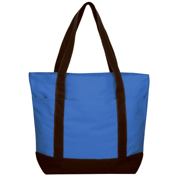 "Embroidery - Large Polyester Zippered Tote Bag With Large Front Pocket And 24"" Handles Photo"