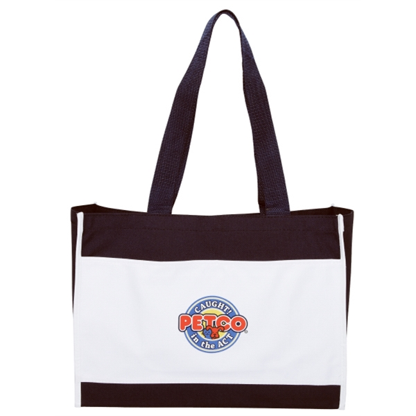 "Silkscreen - Classic Two-tone Polyester Tote Bag With Top Velcro (r) Closure And 24"" Handles Photo"