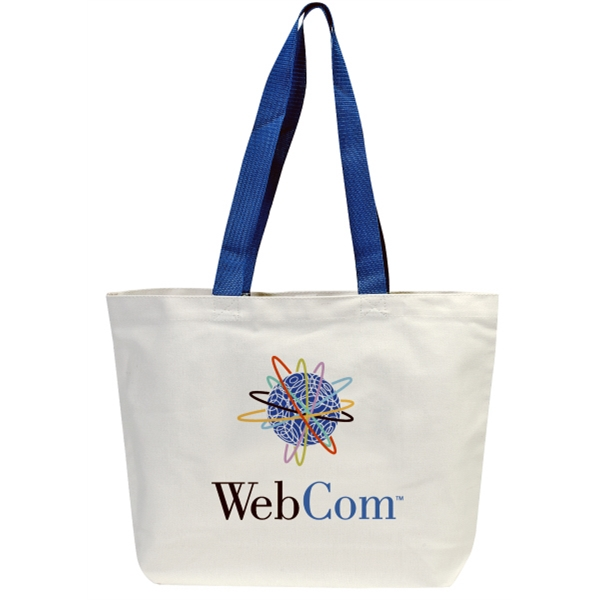 "Embroidery - Canvas Tote With 24"" Webbed Color Handles And Velcro (r) Closure Photo"