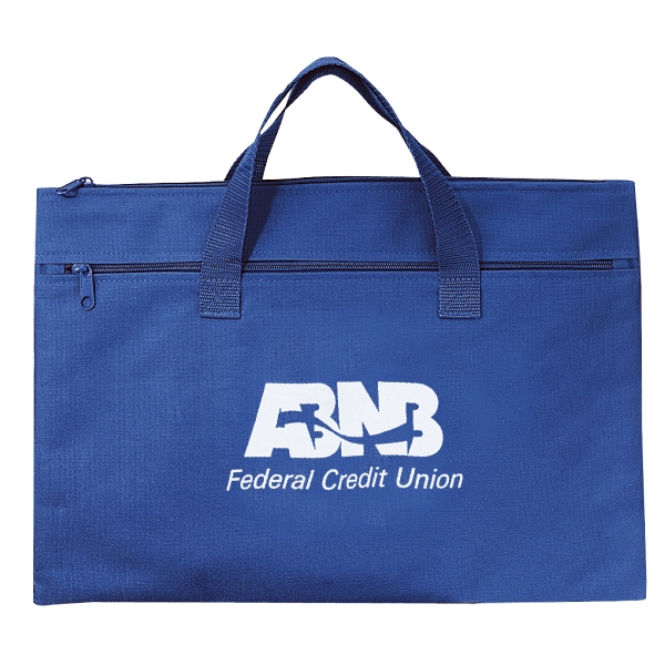 Embroidery - Conference Bag With Top Zipper Closure And Zippered Front Pocket Photo