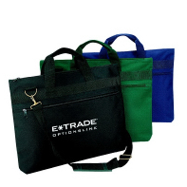 Silkscreen - Polyester Document Portfolio Bag With Carrying Handles And Vinyl Backing Photo