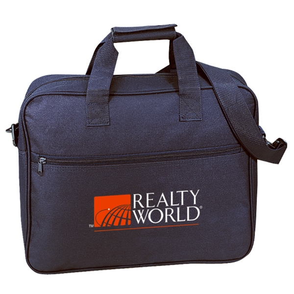 Embroidery - Trade Show Portfolio Bag With Water Repellent Vinyl Backing And Shoulder Strap Photo