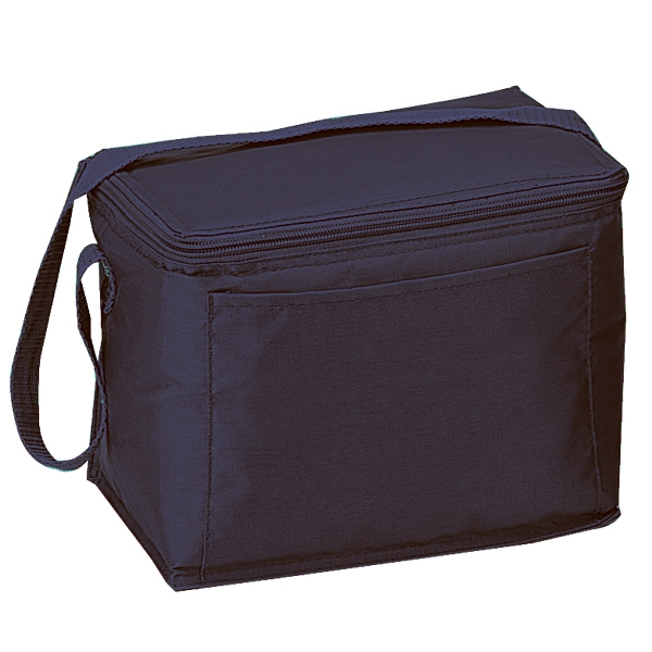 Silkscreen - Six-can Nylon Cooler Bag With Front Pocket And Matching Color Zipper Photo