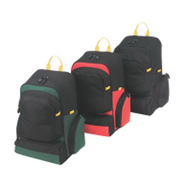 Embroidery - Sport Backpack Bag With Foam Padded Main Compartment And Back Straps Photo