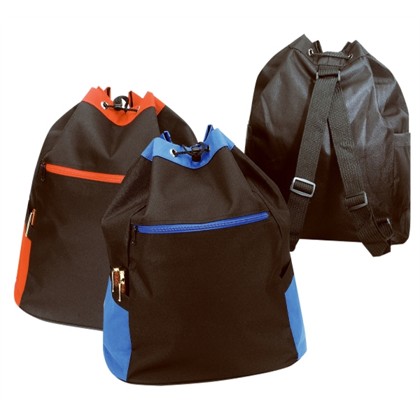 Silkscreen - Drawstring Sport Backpack Bag With Top Drawstring Closure Photo