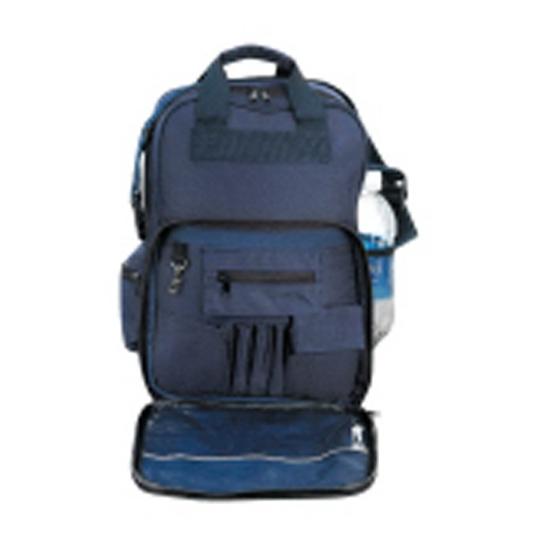 Silkscreen - Three-way Backpack Bag With Double Zippered Main Compartment Photo