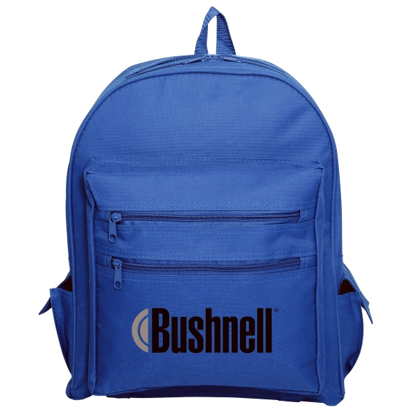 Embroidery - Polyester Backpack Bag With Water Repellent Vinyl Backing And Padded Back Straps Photo