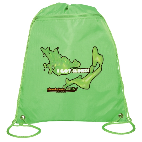 Silkscreen - Draw String Backpack With Top Drawstring Closure Photo