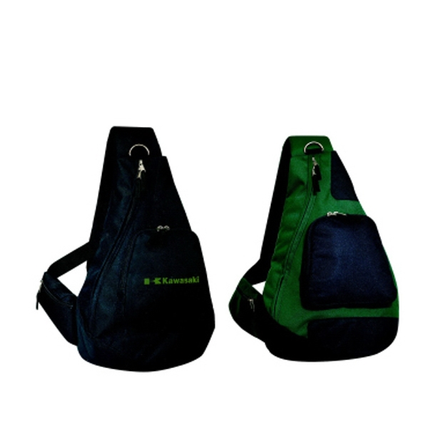 Silkscreen - Slingpack With Shoulder Strap And Double Front Pocket Photo