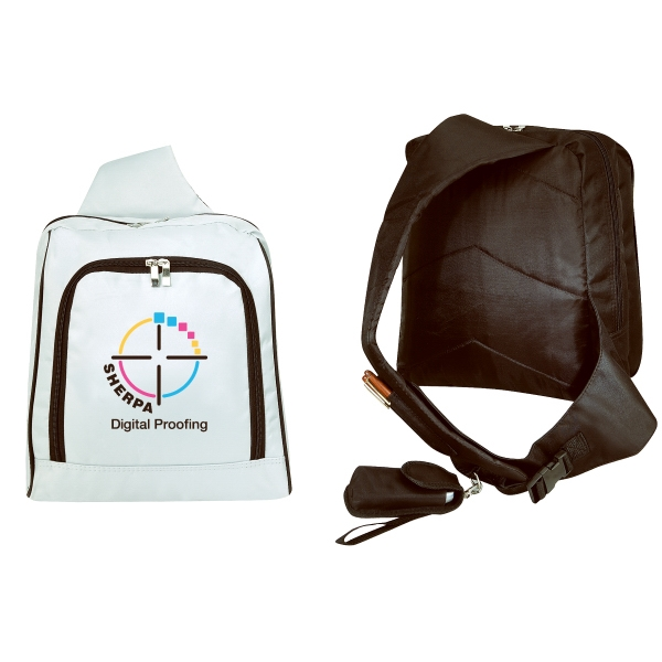 Embroidery - Micro Fiber Slingpack With Front Pocket And Adjustable Strap Photo