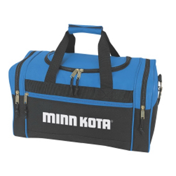 Embroidery - Travel Duffel Bag With Two Zippered End Pockets And Carrying Handle Photo