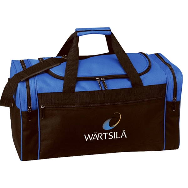 "Embroidery - Polyester 20"" Duffel Bag With U-shaped Top Lid And Zippered Front Pocket Photo"