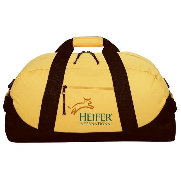 "Silkscreen - Polyester 21"" Duffel Bag With Zippered Front Pocket And Webbed Handles Photo"