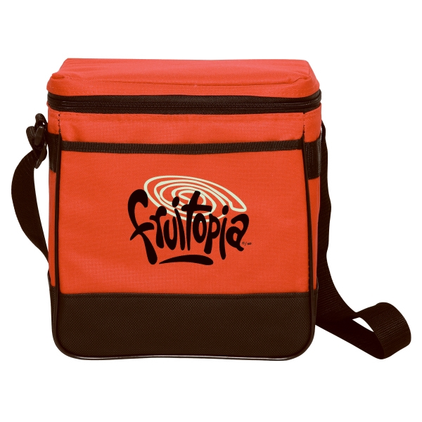 "Embroidery - Twelve-can Leak-proof Polyester Cooler Bag With 42"" Adjustable Strap Photo"