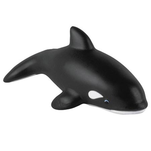 "Killer Whale Shape Stress Reliever, 3 1/2"" Diameter X 3 3/4"" Photo"