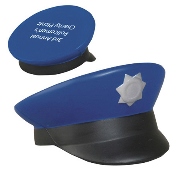 Police Cap Shape Stress Reliever Photo